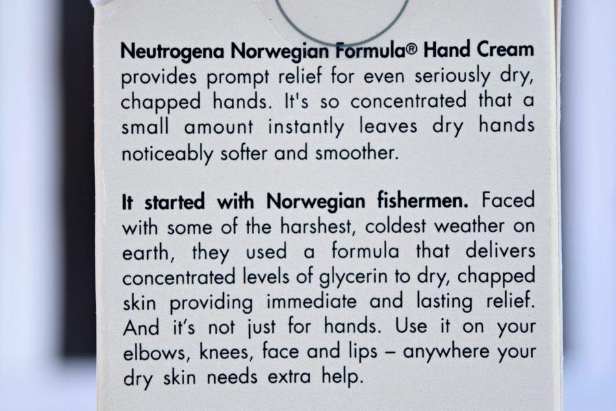 Neutrogena Norwegian Formula Hand Cream Review