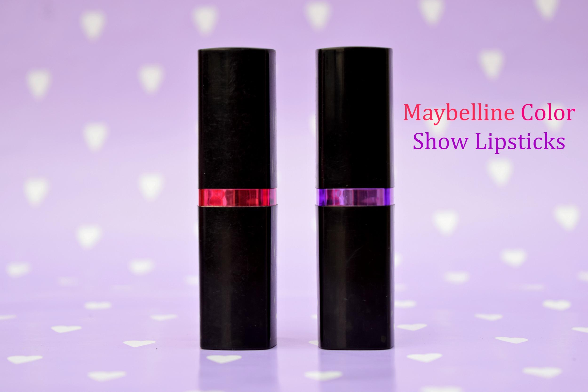 Maybelline Colorshow Lipstick- Burgundy Blend & Fuchsia Flare