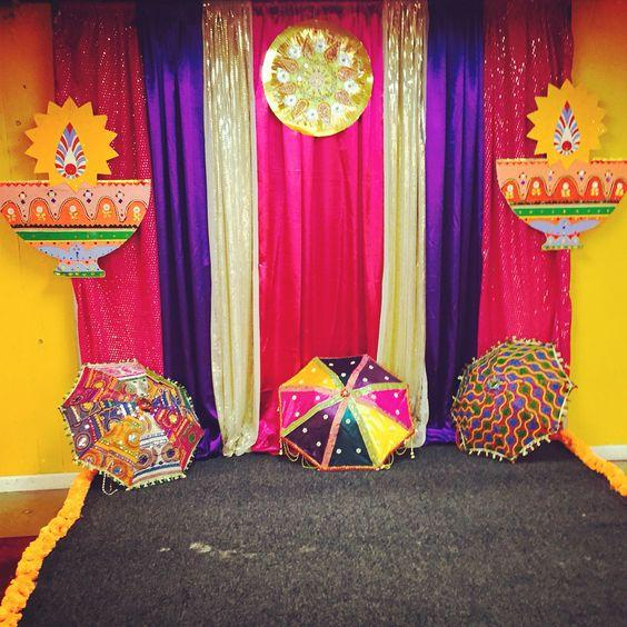 Diwali photo booth for Holi decorations at home