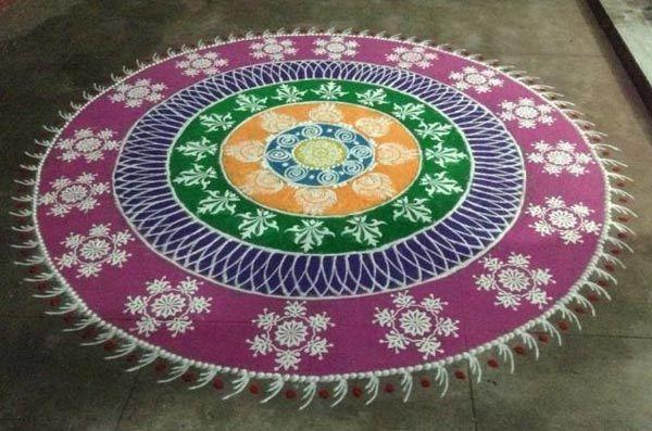 Latest Unique Rangoli Design