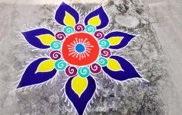 Colorful Rangoli for Diwali