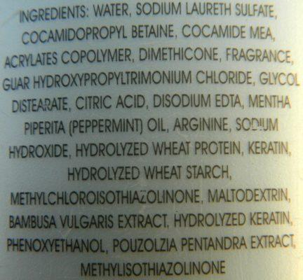 Avon Advance Techniques Anti-Hair Fall Shampoo Ingredients