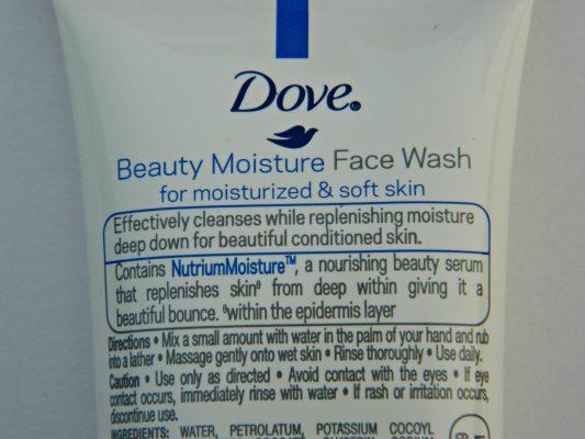 Dove Beauty Moisture Nutrium Moisture Face Wash Review