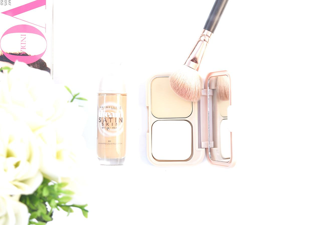 Maybelline Dream Satin Foundation and Two Way Cake