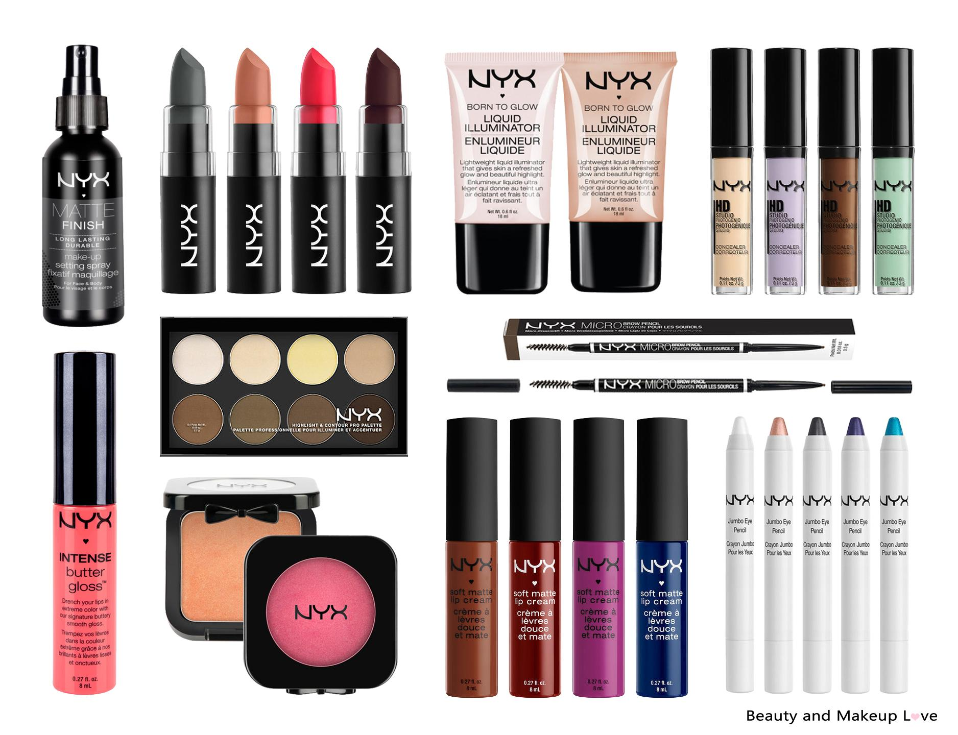 Top NYX Makeup Products