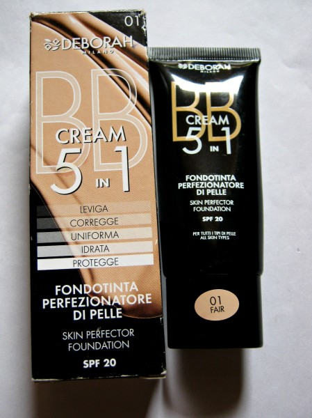 Deborah Milano 5-in-1 BB Cream with SPF 20 Review and Swatches